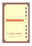 Coodu Trust Annual Report 2001-02
