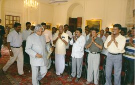 Coodu Trust Director with H.E. Dr A.P.J.Abdul Kalam, President of India.